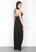 T-Bags T Bags Criss Cross Back Maxi Dress in Black