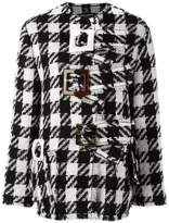 Dolce & Gabbana checked boxy coat