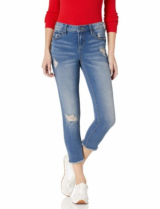 SLINK Jeans Women's Missy Caralyn Frayed Hem Crop