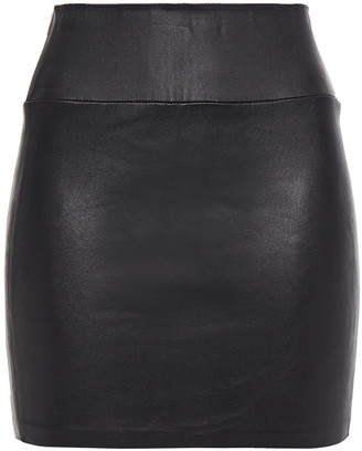 Sprwmn Stretch-leather Mini Skirt