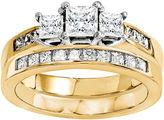 MODERN BRIDE 7/8 Ct. T.W Diamond 14K Two Tone Bridal Set
