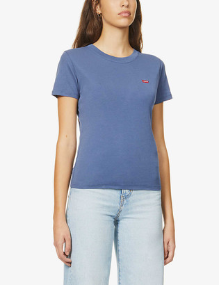 Levi's Baby logo-embroidered cotton-jersey T-shirt