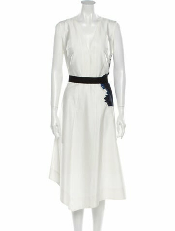 Narciso Rodriguez V-Neck Long Dress