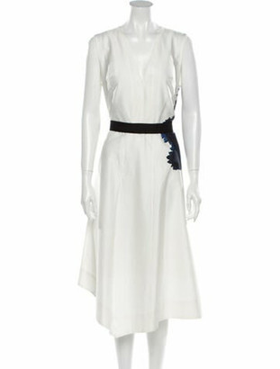 Narciso Rodriguez V-Neck Long Dress