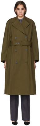 Stella McCartney Khaki Cotton Long Trench Coat