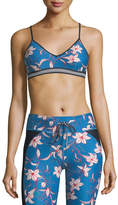 The Upside Floral Fairy Tale Compression Andie Crop Top
