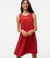 LOFT Crochet Yoke Swing Dress