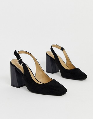 Raid Nina sling back heeled shoes in black