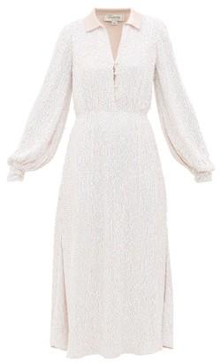 Temperley London Constellation Crystal Satin Shirt Dress - Light Pink