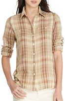Lauren Ralph Lauren Plaid Linen Shirt