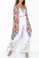 Umgee USA Floral Blooming Kimono