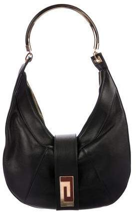 Gianni Versace Leather Hobo Bag