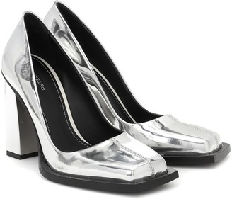 Peter Do Metallic leather pumps