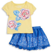 Flapdoodles Girls 2-6x Baby Girls Two-Piece Tee and Skirt Set