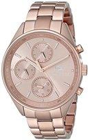 Lacoste Women's 2000867 Philadelphia Rose Gold-Tone Stainless Steel Watch