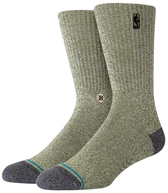 Stance NBA Logoman BB (Green) Crew Cut Socks Shoes
