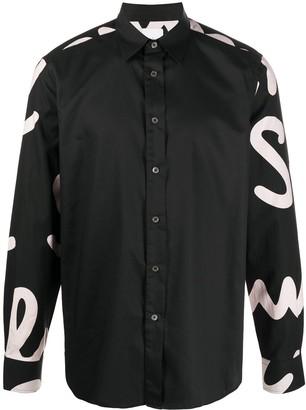 Paul Smith Logo Print Button-Up Shirt