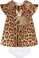 Dolce & Gabbana Ruffled Cat Dress And Pants (0 Months - 30 Months)