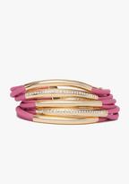 Bebe Pave Metal & Cord Toggle Bracelet