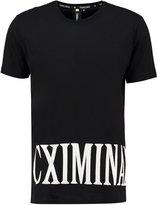 Criminal Damage Print Tshirt Black/white