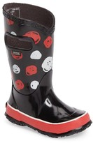 Bogs Girl's Sketched Dot Waterproof Rain Boot