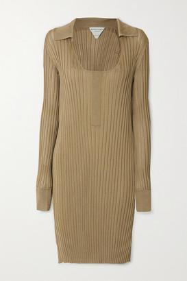 Bottega Veneta Ribbed Silk Dress - Beige