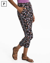 White House Black Market Petite Floral Crop Knit Pants