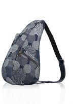 AmeriBag Healthy Back Bag Small Shoulder Bag Flower Denim Print - Grey