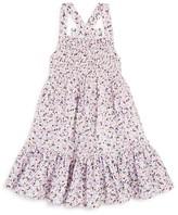 Kate Spade Girls' Smocked Floral Print Coverup - Little Kid