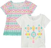 Freestyle White Geometric Tee Set - Toddler & Girls