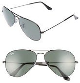 Ray-Ban Women's Original 58Mm Polarized Aviator Sunglasses - Black