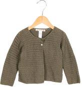 Bonpoint Girls' Knit Long Sleeve Cardigan