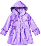 Zhuhaixmy Girls Rain Jacket Hooded Raincoat Waterproof Rain Coat Kids 2-7 Year