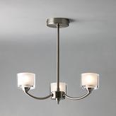 John Lewis Paige Ceiling Light, 3 Arm, Satin Nickel
