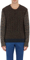 Boglioli Men's Marled Sweater-GREEN