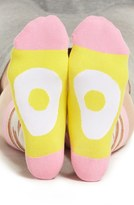 Women's Woven Pear Bacon Crew Socks