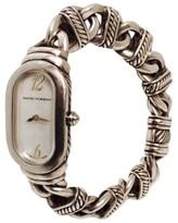 David Yurman Mother Of Pearl Dial Sterling Silver Madison Link Bracelet Womens Watch
