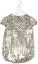 Roberto Cavalli leopard pattern dress - kids - Silk/Polyester/Viscose - 9 mth