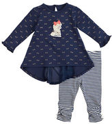 Petit Lem Baby Girls Two-Piece Poodle Tunic and Leggings Set