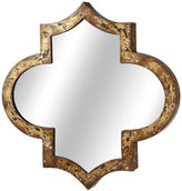 Asstd National Brand Distressed Brown Gold Geo Wall Mirror