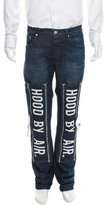 Hood by Air Logo-Embroidered Slim Jeans