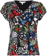 Yumi Floral Print Tassel Top