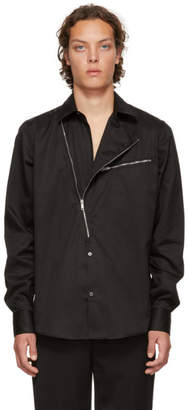 Givenchy Black Asymmetric Zip Shirt