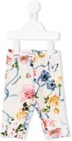MonnaLisa floral ribbon print leggings