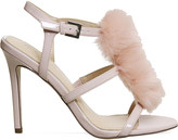 Office Hurrah pom pom patent sandals