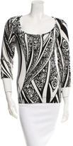 Just Cavalli Printed Long Sleeve Top
