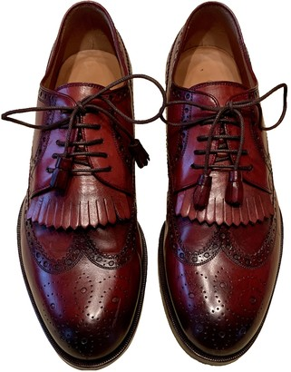 Gucci Burgundy Leather Lace ups