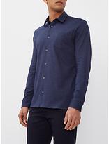 Jaeger Jersey Cotton Regular Fit Shirt, Navy