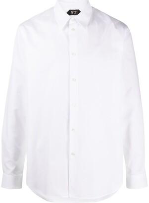 No.21 Pointed-Collar Long-Sleeved Shirt
