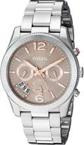 Fossil Women's Quartz Stainless Steel Automatic Watch, Color:Silver-Toned (Model: ES4146)